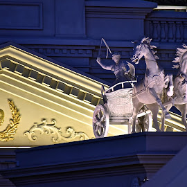 Charriot and Caesars Logo by Steven Aicinena - Buildings & Architecture Statues & Monuments ( charriot, caesars )