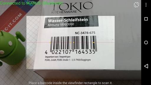 Wireless Barcode-Scanner, Full - screenshot