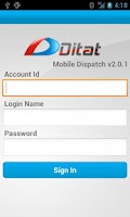 Screenshot of Ditat Mobile Dispatch