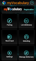 Screenshot of myVocabulary - myApps