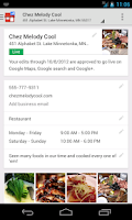Screenshot of Google Places for Business