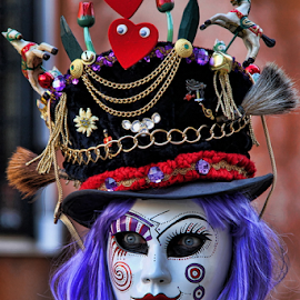 Venetian Mask by Dominic Jacob - News & Events World Events ( venezia, person, carnival, carnaval, venice, mask, italy, venetian )