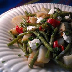 Warm Green Bean and Potato Salad with Goat Cheese