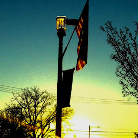 'Merica by Michael Griffin - City,  Street & Park  City Parks ( old glory, flag, park, sunrise, morning )