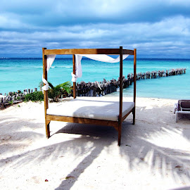 Isla Mujeres mexico by Tammy Tran - Artistic Objects Furniture ( beachfront cabana isla mujeres island mexico carribean ocean exotic )