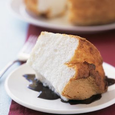 Angel Food Cake with Mocha Sauce