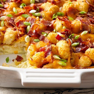 Impossibly Easy Bacon, Egg and Tot Bake (With Make-Ahead Directions)