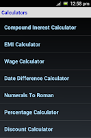 Screenshot of Calculators & Unit Converters