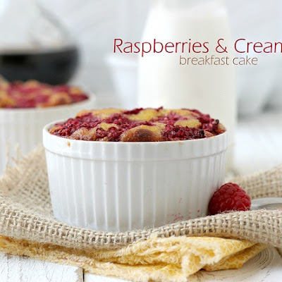 Raspberries & Cream Breakfast Cake