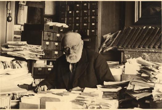 Paul Otlet (1868-1944), stichter van het Mundaneum, geestelijke vader van de Documentatie