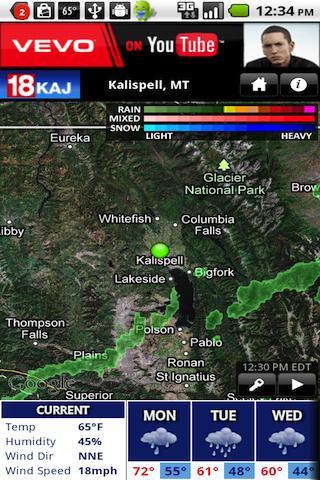 免費下載氣象預報app KAJ Weather!準確預報天氣好用App