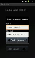 Screenshot of playStream Internet Radio
