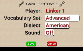 Screenshot of Word Links