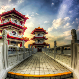 Chinese Pagoda by Rajeev Kalyan - Buildings & Architecture Public & Historical ( chinese_garden, pagoda, singapore )