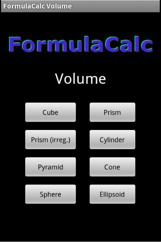 FormulaCalc-Volume