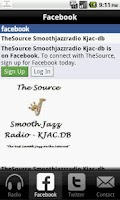 Screenshot of The Source: Smooth Jazz Radio