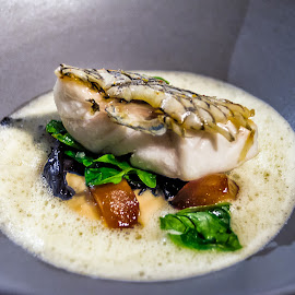 Black Bass En Ecailles by Max Juan - Food & Drink Plated Food ( fish, bass, food )
