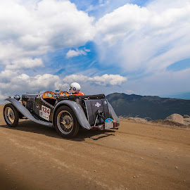 MG takes the hill by Matt Weaver - Sports & Fitness Motorsports ( clouds, to the, climb, washington, 1934, mt, mg, hillclimb, moutn, race )