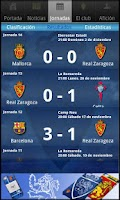 Screenshot of Real Zaragoza SAD app