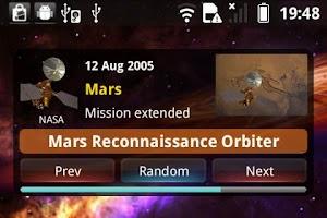 Screenshot of Spacecraft Widget