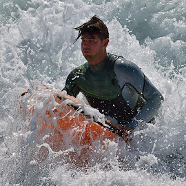 The Wedge Surfer by Jose Matutina - Sports & Fitness Surfing ( surfer, orange county, california, newport beach, the wedge )