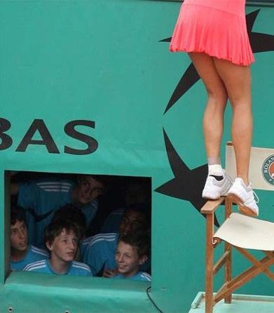Mit bámulnak a srácok? - ezért szeretjük a női teniszt! - egy vicces kép