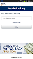 Screenshot of DFCU Mobile