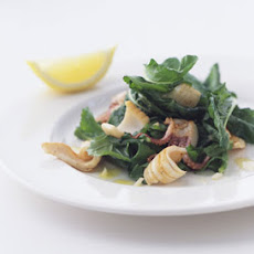 Grilled Calamari with Arugula