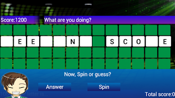 Screenshot of Wheel of words