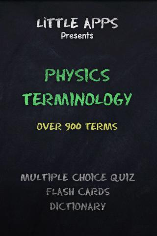900+ PHYSICS TERMS-Quiz App