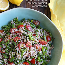 Lemon Asparagus Couscous Salad with Tomatoes