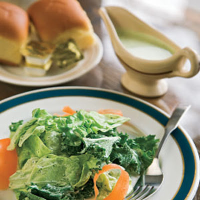 Mixed Green Salad with Green Goddess Dressing