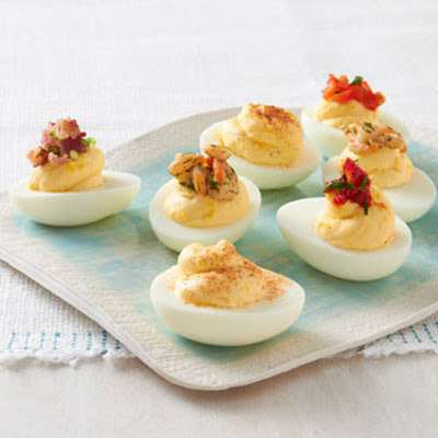 Favorite Topped Deviled Eggs