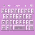 GO Keyboard Pink Pearl Theme