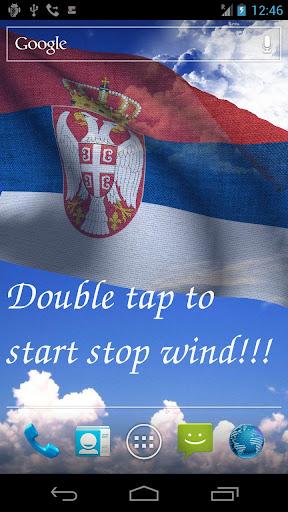 3D Serbia Flag Live Wallpaper+