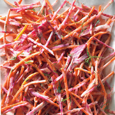 Candy-Stripe Beet and Carrot Slaw