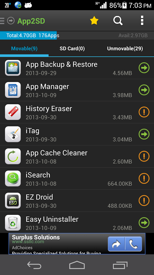App2SD &App Manager-Save Space Screenshot 1