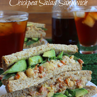 Tea Time and a Loaded Chickpea Salad Sandwich