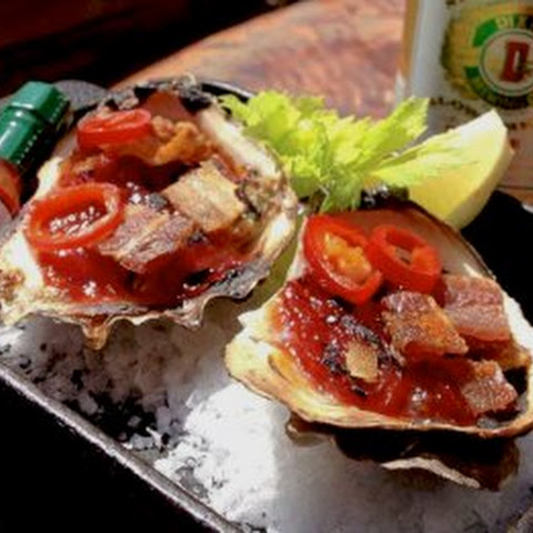 Ah Shucks! Bacon BBQ Oysters Like They Do It In New Orleans.