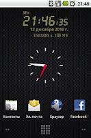 Screenshot of LCD clock widget