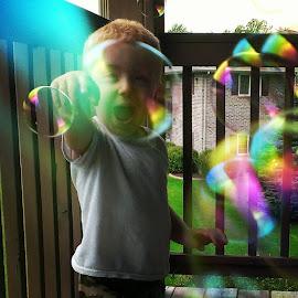 @mermer11792 our bubs sure likes bubbles lol by Riley Courchaine - Babies & Children Children Candids ( bubbles )
