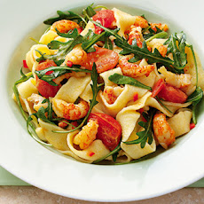 Crayfish And Rocket Saffron Tagliatelle