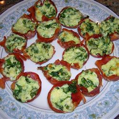 Prosciutto Ricotta and Spinach Morsels