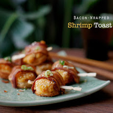 Bacon Wrapped Shrimp Toast