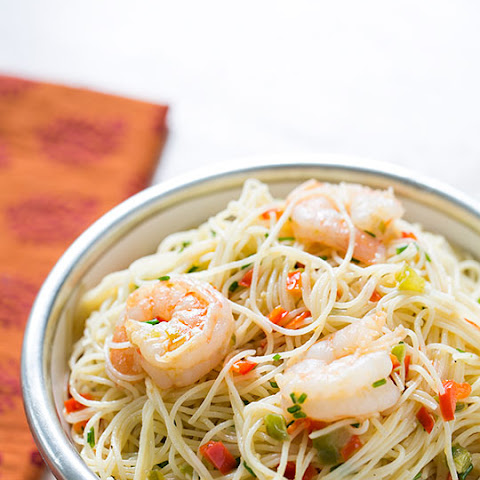 how to cook angel hair pasta with shrimp