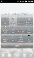 Screenshot of Quick Settings Application