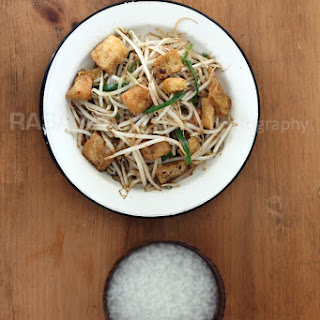 Bean Sprouts with Tofu Puff