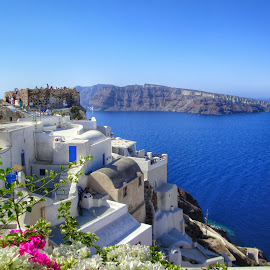 Santorini by Eva Ba - Buildings & Architecture Homes ( unique, blue, greece, travel, santorini, island )