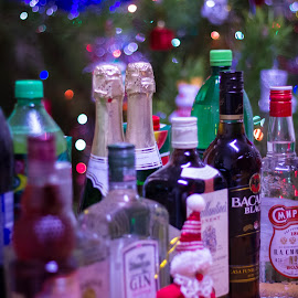 On An Eve by Kaustubh Manchekar - Food & Drink Alcohol & Drinks ( #santaboughtme, #2014, #bokeh, #alcohol, #christmas, christmas, decoration, object )