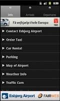 Screenshot of Esbjerg Airport